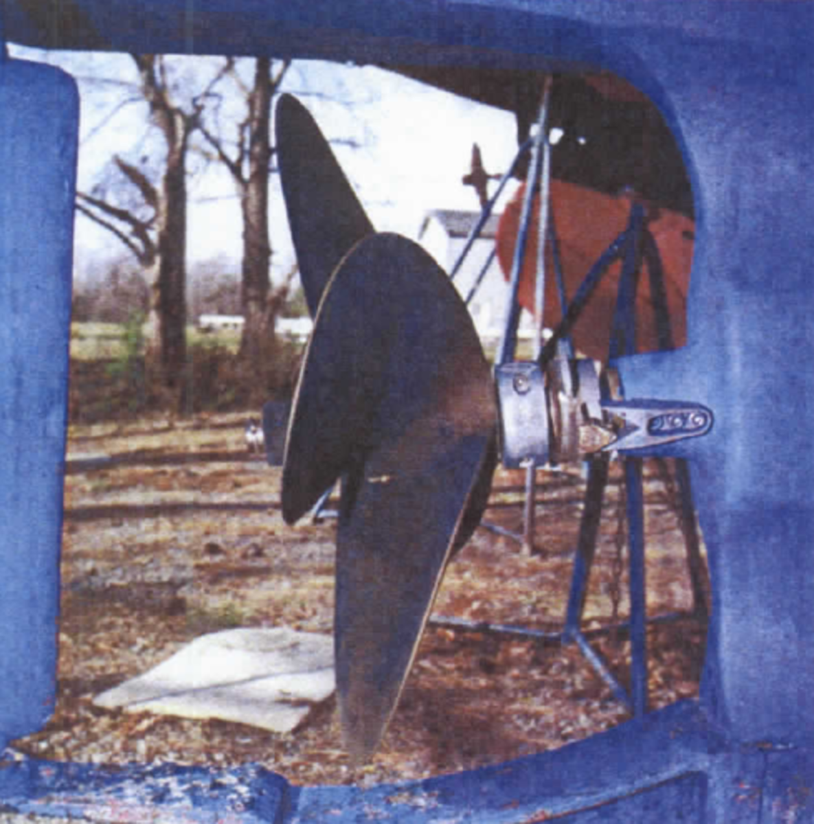 A good example of a raked propeller: the blades tilt in the direction of the faces. raking can be used to increase overall blade area or influence a vessel's attitude, bow up or bow down, while underway.