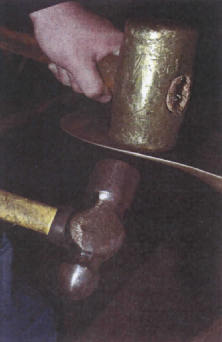 Propeller adjustment and the inducement of cup are still very much hands-on affairs. Judicious of brass and bronze hammers wielded by the right hands yields the desired results.