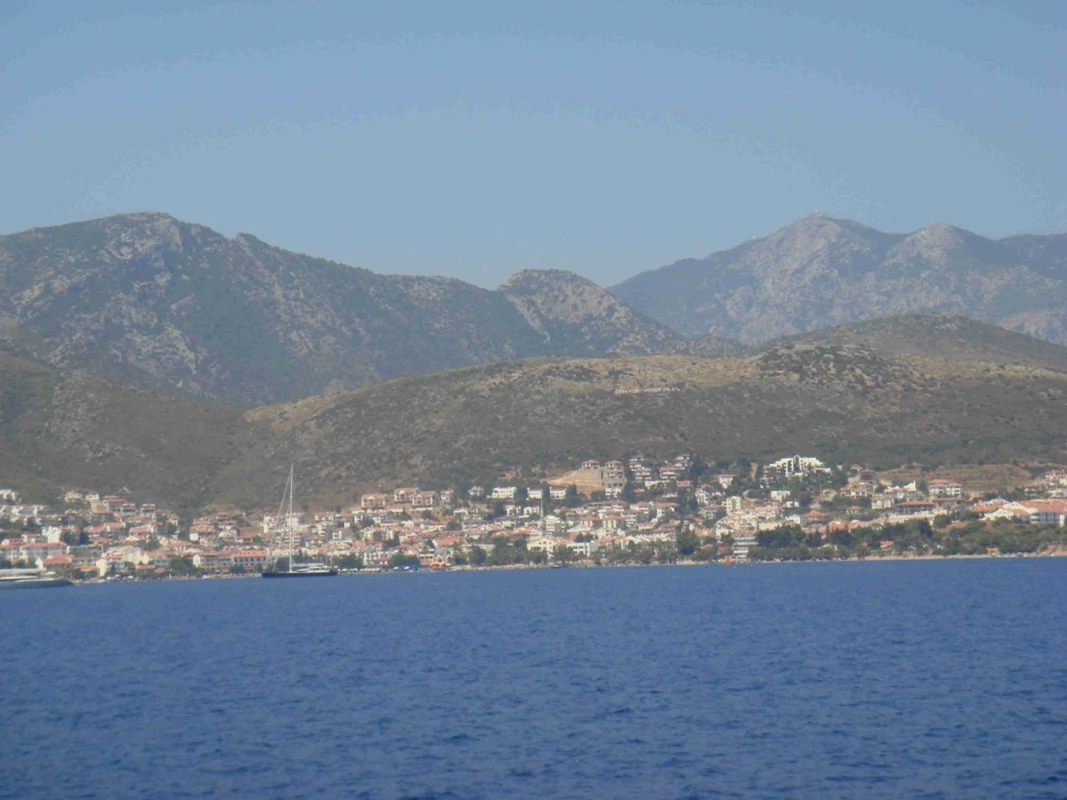 The view of Datca from Leeze.