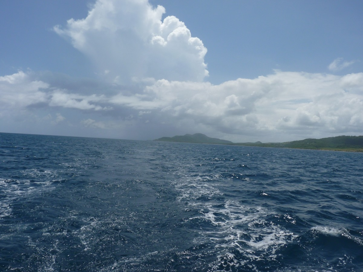 Traveling the south coast of Vieques.