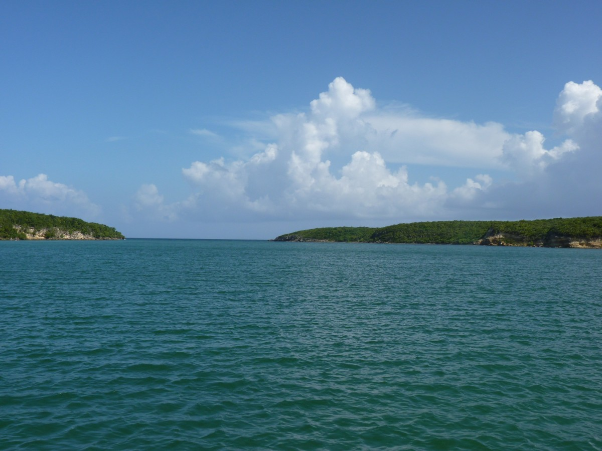 At anchor in Puerto Ferro, a protected mangrove bay.