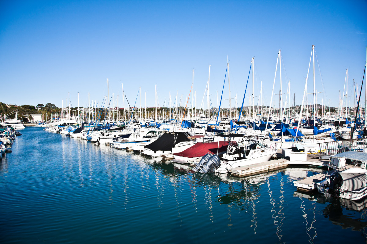 The basin at Dana Point can accommodate 2,400 boats.