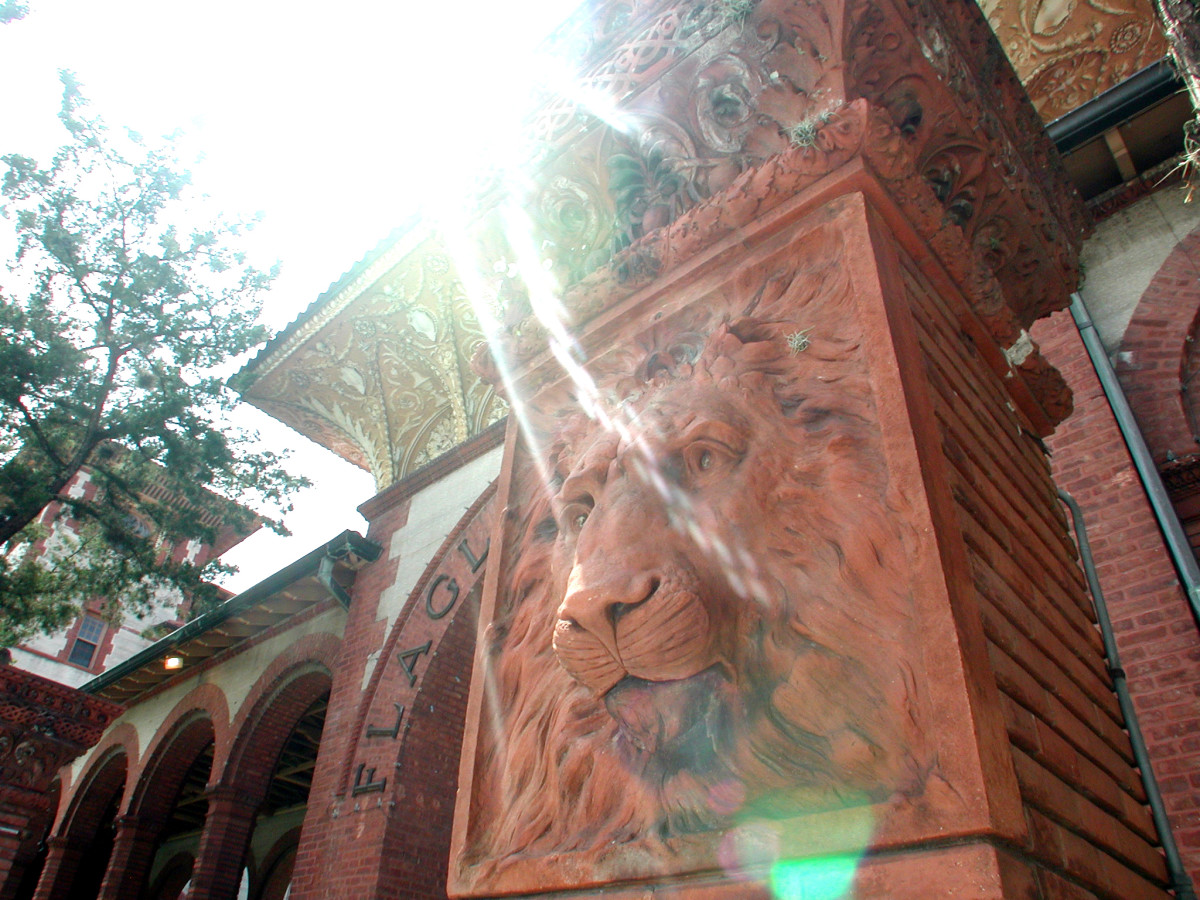 "The lion theme runs throughout St. Augustine, a tribute to Spanish explorer Ponce de Leon, who is said to have visited here looking for a ""fountain of youth."""