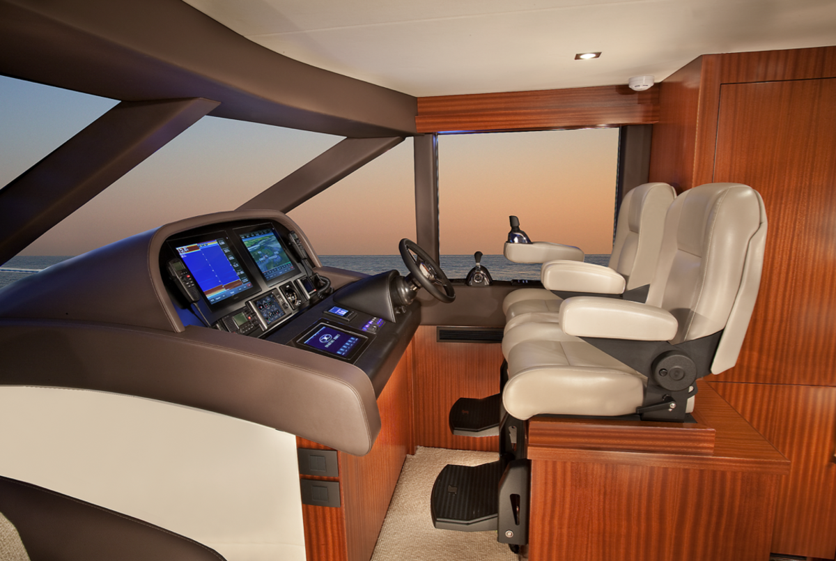 The 65's ergonomics truly elevate this boats comfort level when underway.