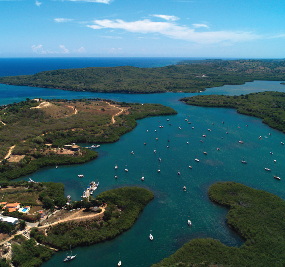 Luperon Harbor is well protected and is usually host to at least 70 cruising boats at anchor.