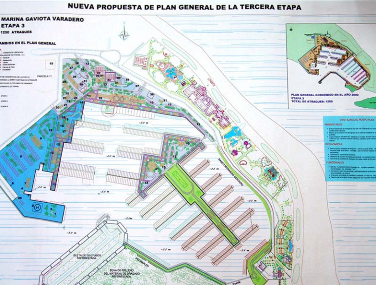 Plans for Marina Gaviota Varadero call for more than 1,200 slips. Gaviota is a subsidiary of the Cuban military, which has partnered with foreign companies to build a billion-dollar resort complex at the tip of the Hicacos peninsula, 90 miles south of Marathon, Florida, and about an hour and a half drive east of Havana.