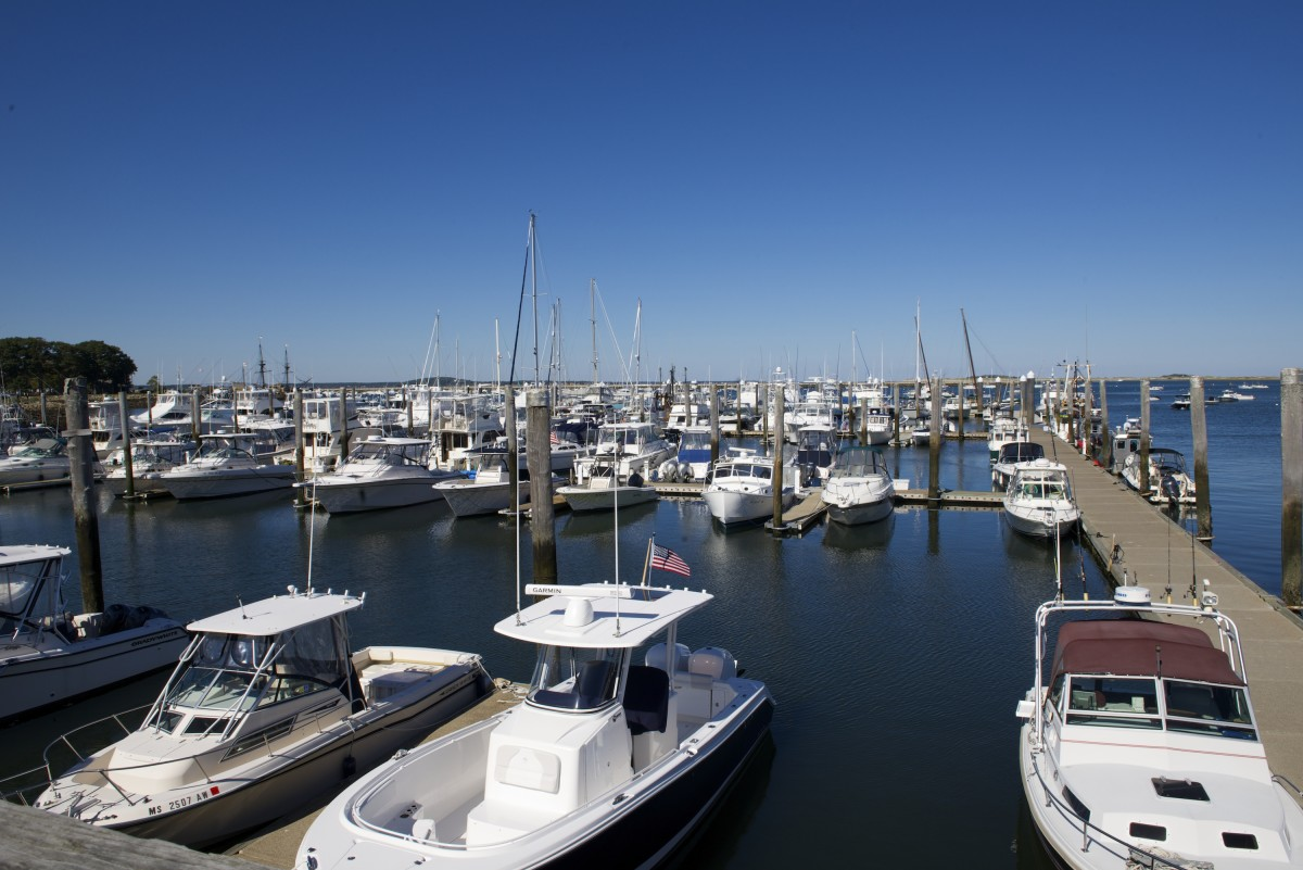 Brewer's Plymouth yard offers concrete floating docks suitable for boaters up to 120 feet.