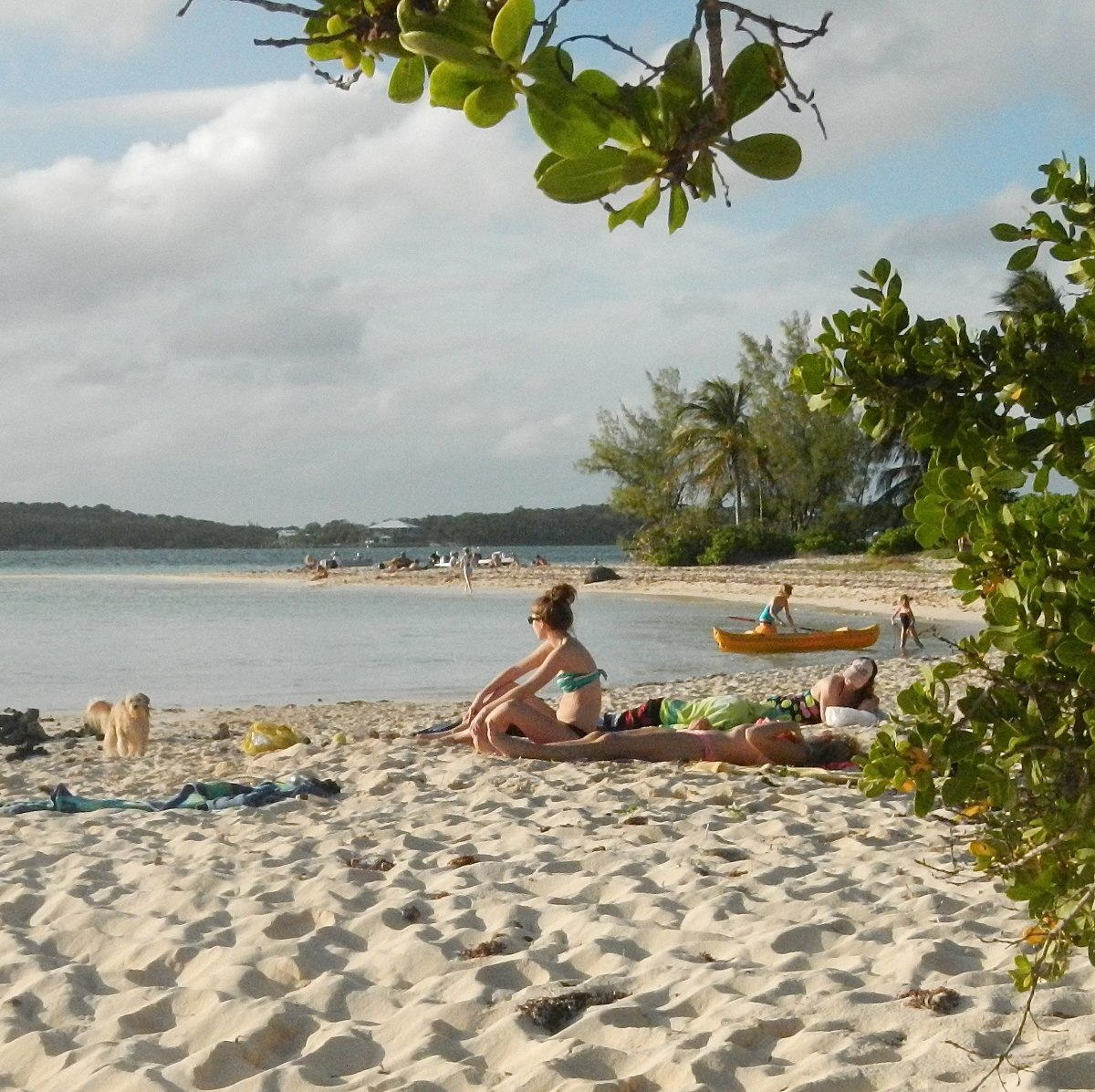 We laid in the sun, kayaked and snorkeled in the 80º water at the south end of Elbow Cay.
