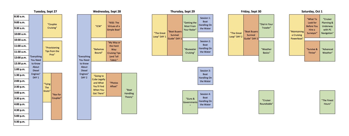 Bay Bridge Seminar Schedule (dragged)