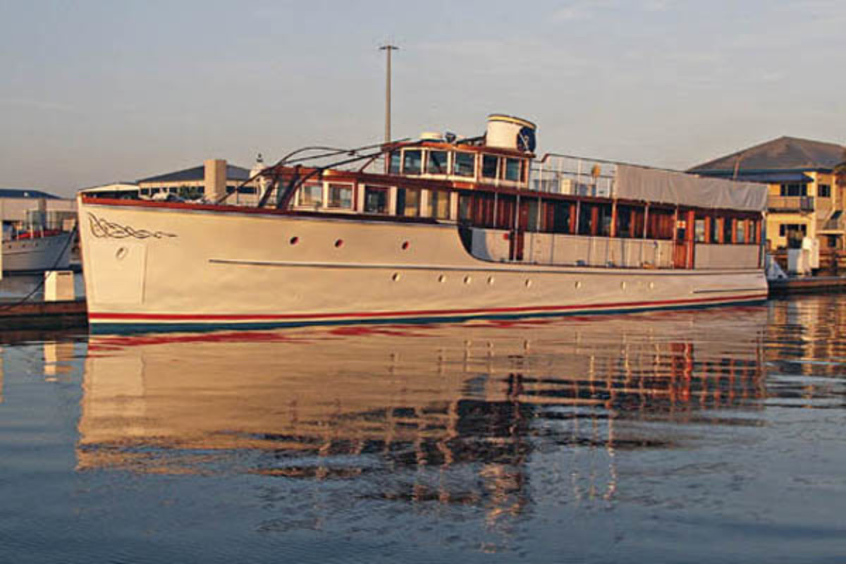 Back afloat, Honey Fitz's refit is nearly complete.