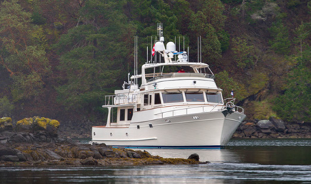 The Fleming 78 is a sigh to behold on the water whether in motion or drifting peacefully.