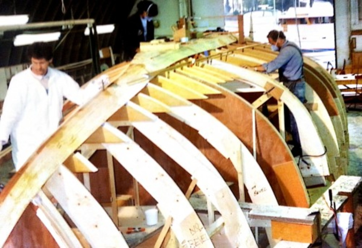 At the pattern phase, we begin to see the boat shaping into something.