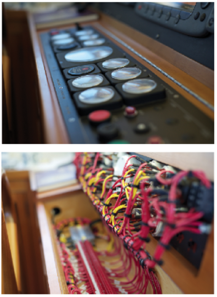 The systems and wiring on Ruby are some of the most meticulous on any motoryacht.