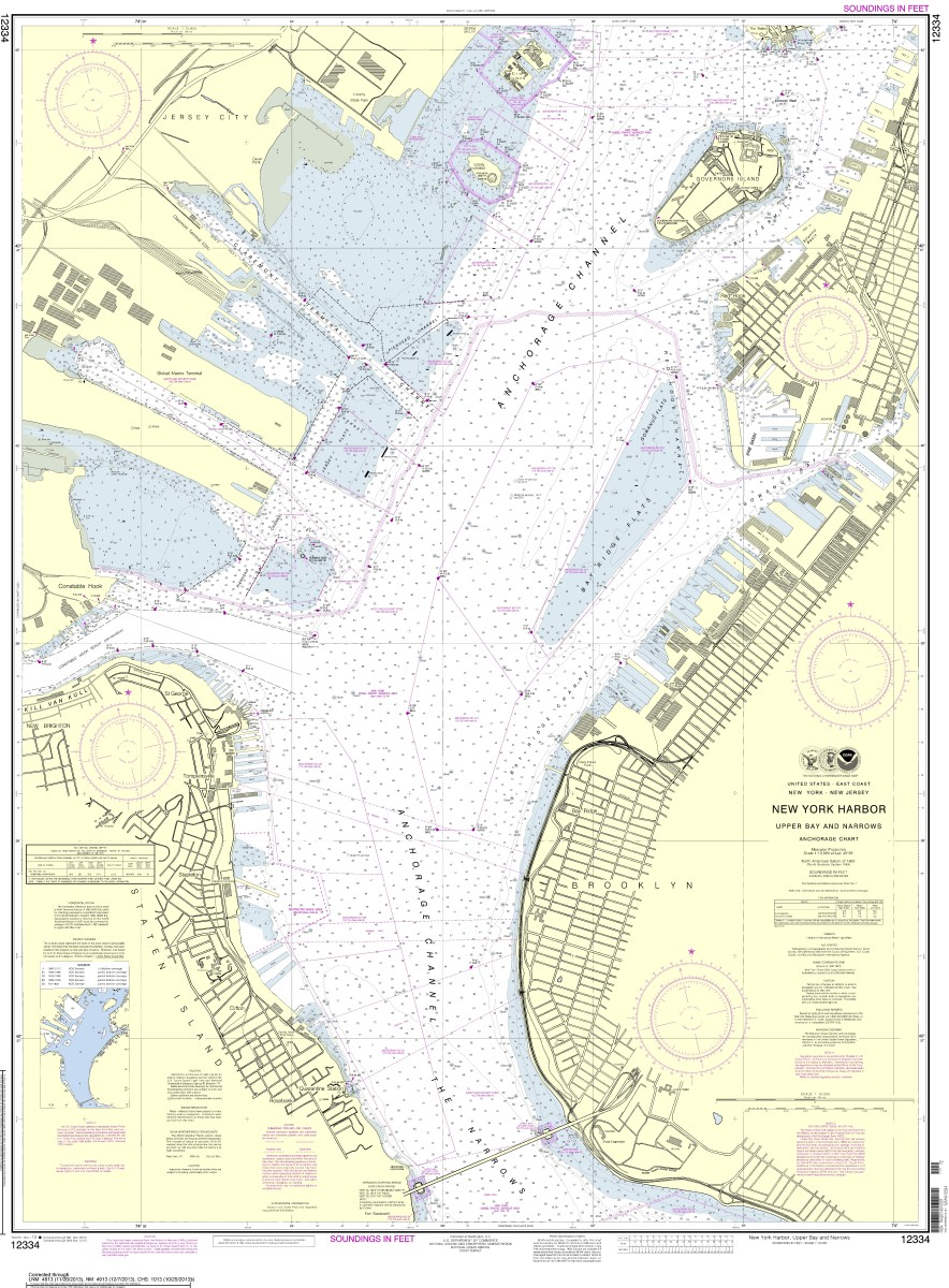 The updated New York Harbor chart can be downloaded for free at www.nauticalcharts.noaa.gov.