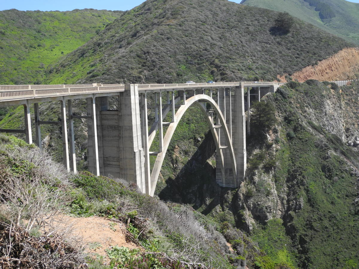 Bixby Bridge on California Highway One, built in 1932.