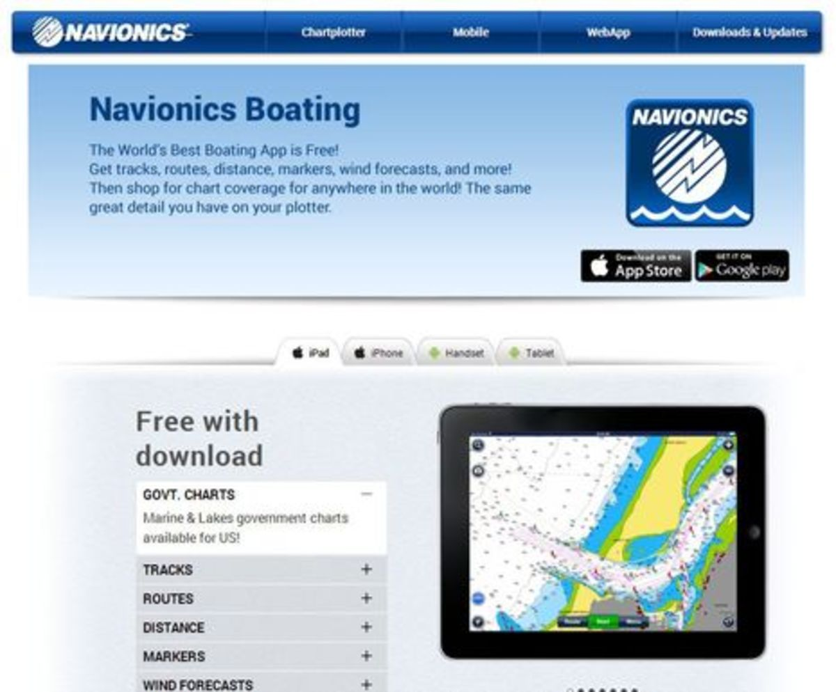 Navionics Boating app, now with free U S  charts! - PassageMaker