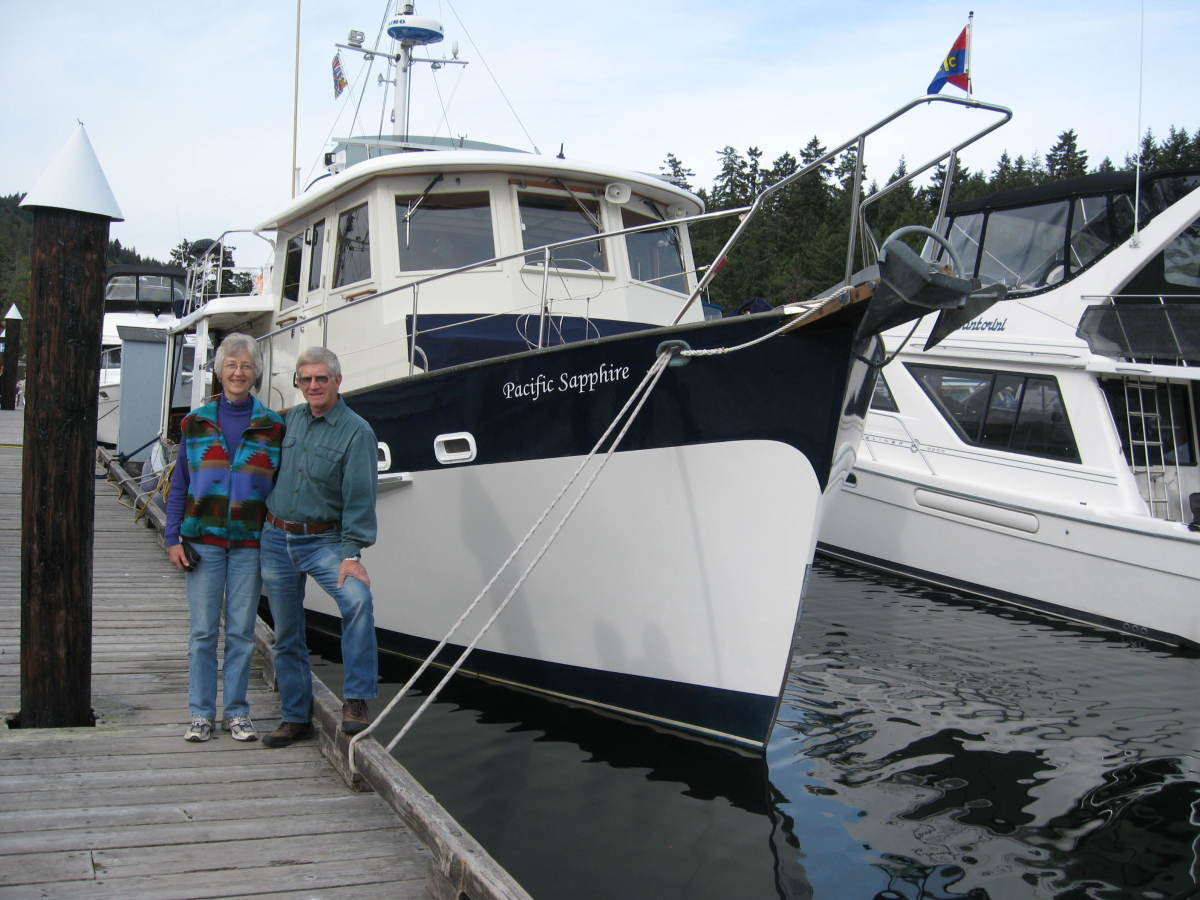 Owners David and Noreen on the docks.