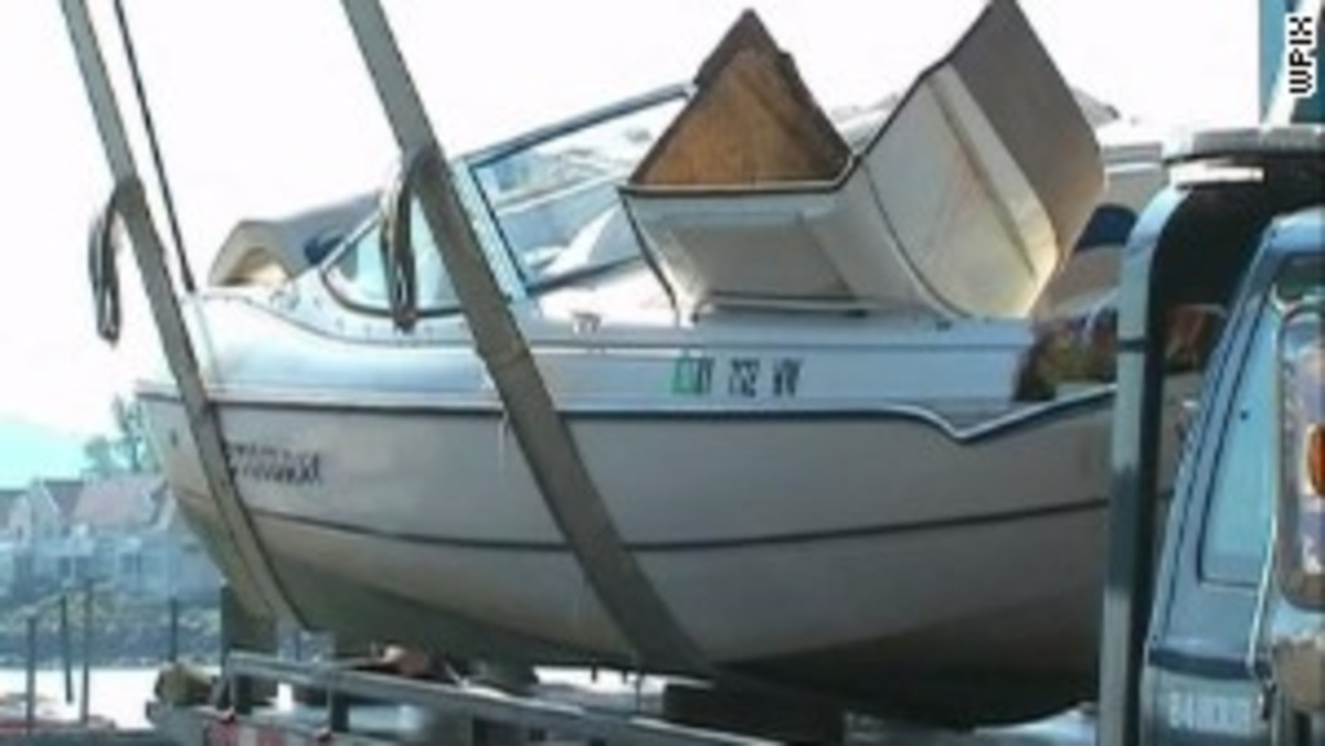 Jojo John was piloting a 19-foot Stingray powerboat around 10:40 p.m. on July 26, 2013, when it slammed into one of three construction barges strapped together near the Tappan Zee Bridge. (via cnn.com)