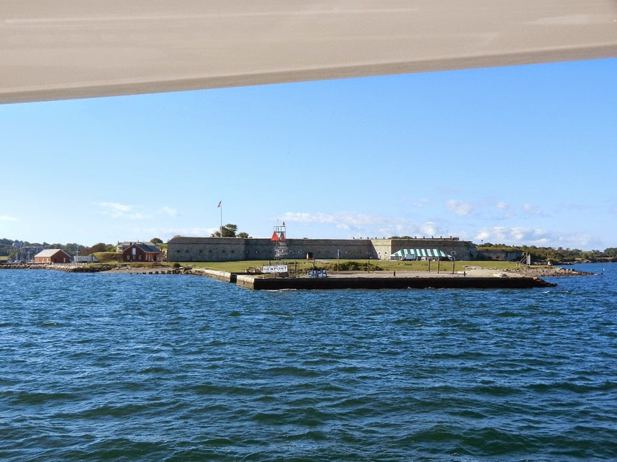 The view of Fort Adams as we were departing Newport.