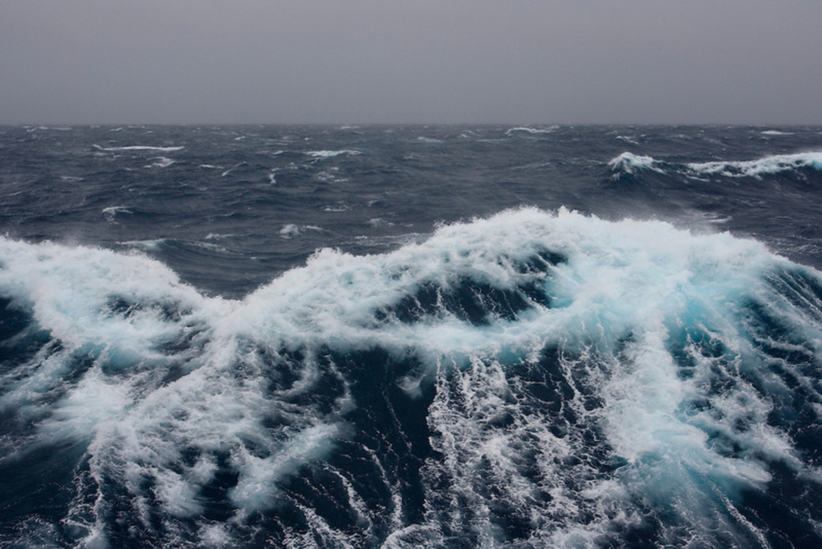 February 4th 2007. Southern Ocean. Waves from a force 10 storm in the Ross Sea.