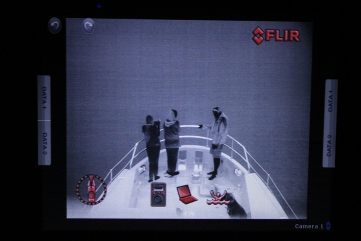 Flir footage of us dropping the hook after 201 hours at sea!