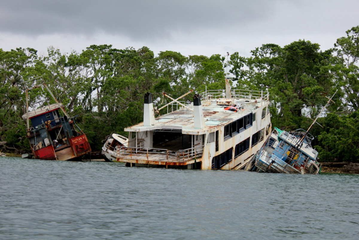 Vanuatu still has scars from a recent cyclone that ripped through the area.