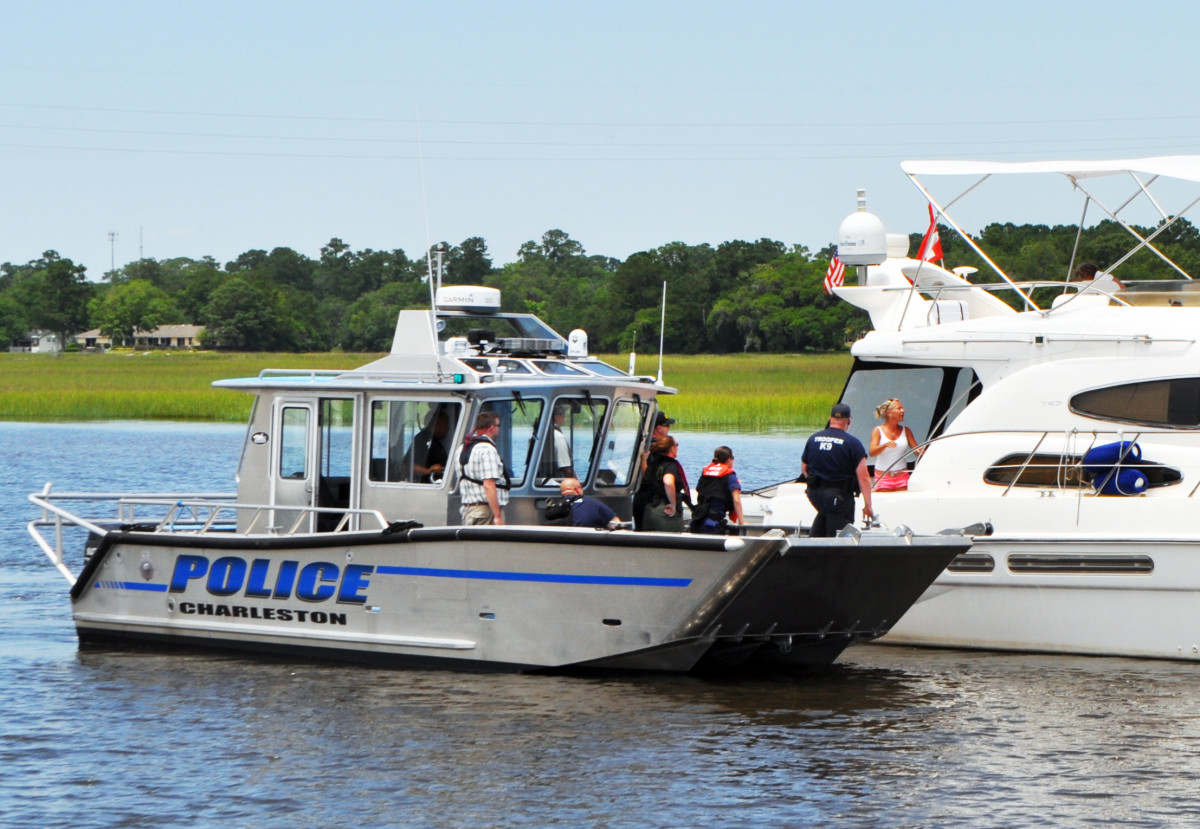 "An ""everything bagel"" of law enforcement was stopping boats in Charleston last summer, causing some complaints about the use of government resources. The Charleston City Police boat was carrying two Coast Guard officers, a Customs and Border Patrol officer, a South Carolina marine patrol officer, a DEA agent, a Charleston city police officer and a German shepherd."