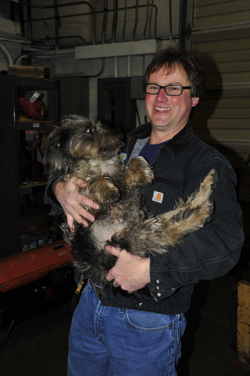 The dynamic duo of Craig and his Shaggy dog harry.