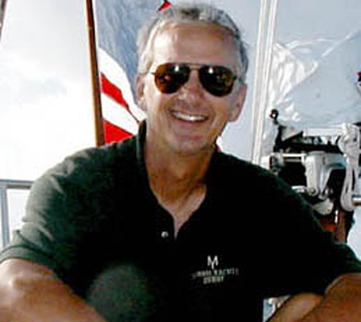 Denny Emory at sea.