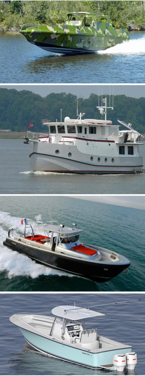 Lou Codega's designs range from Navy Seals boats to full-displacement trawler yachts.