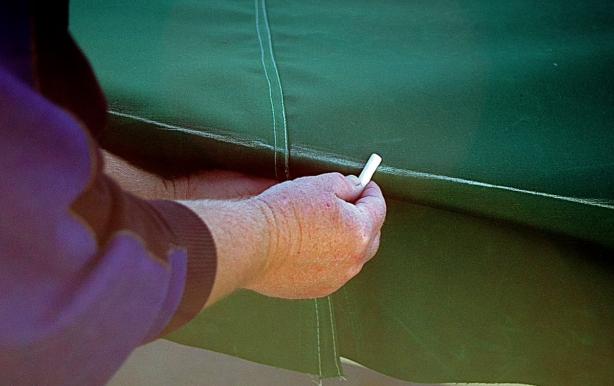 Chalk is the ideal marking tool as it stays on when you need it to and rubs off when you don't.
