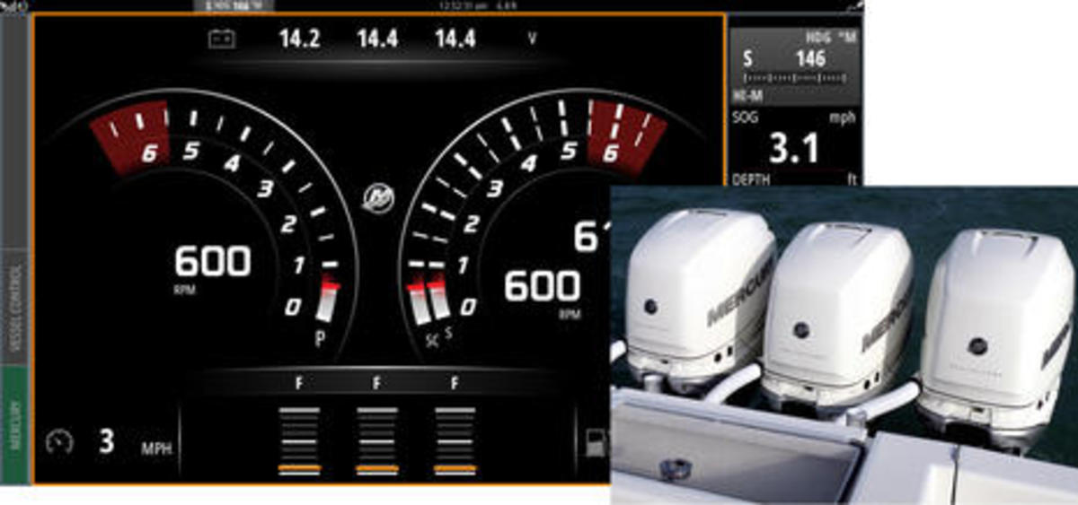Mercury Amp Navico New Vesselview Link Vesselview 702 502 Displays And Mfd Engine Interface