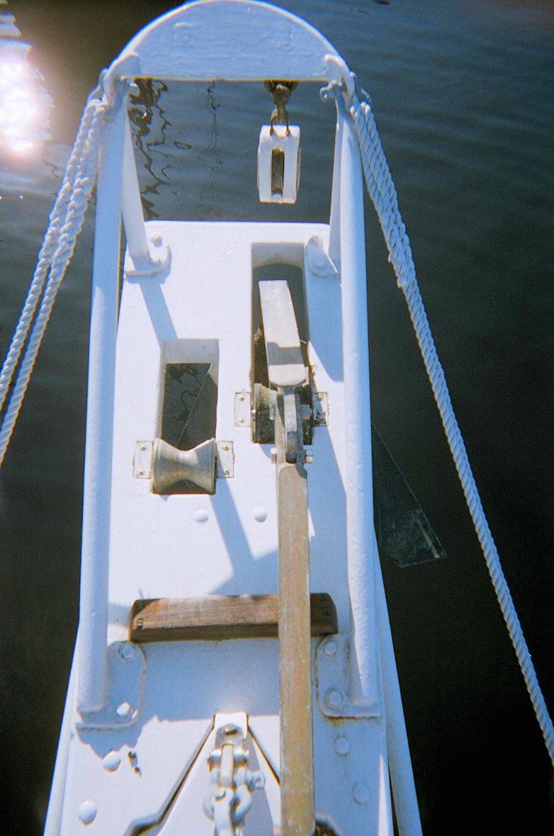 Anchor platform setup for 2 anchors, and snubber arch.