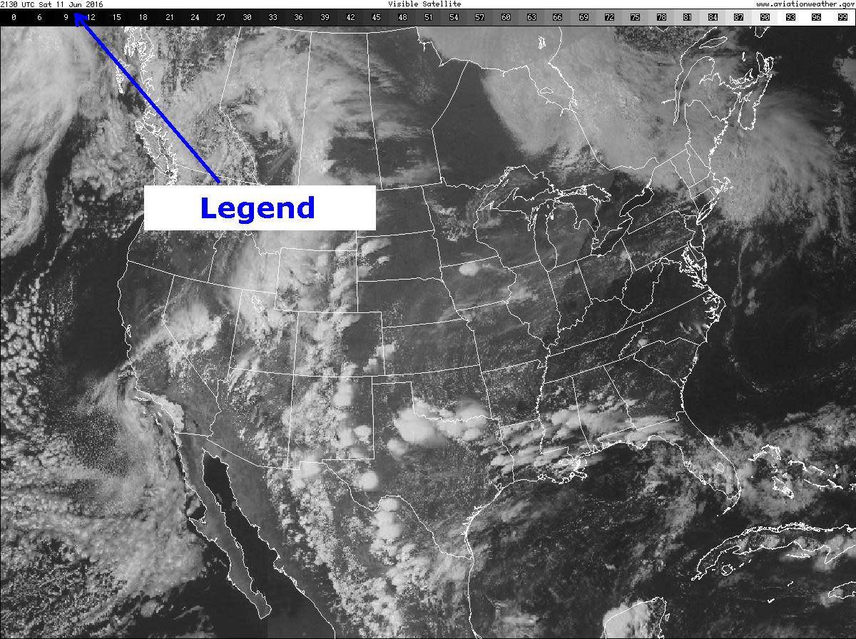 Figure 2: Visible satellite image.