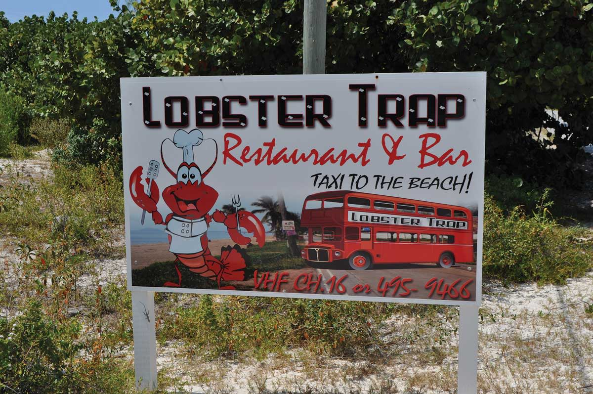 Lobster is the house special on all the Anegada restaurant menus.