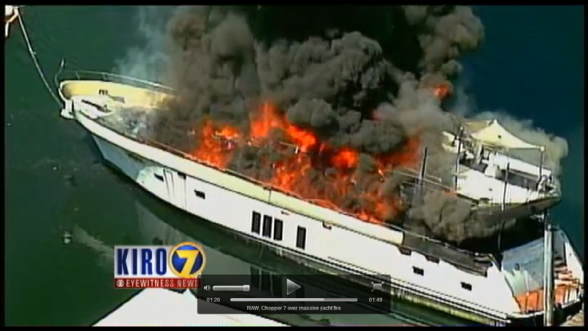 Fire Destroys Ocean Alexander 85 Video Passagemaker