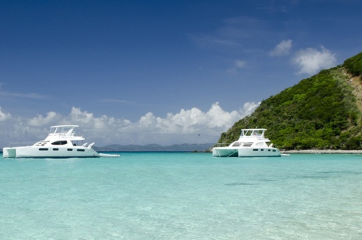 A flotilla of charters enjoying all the BVI has to offer.