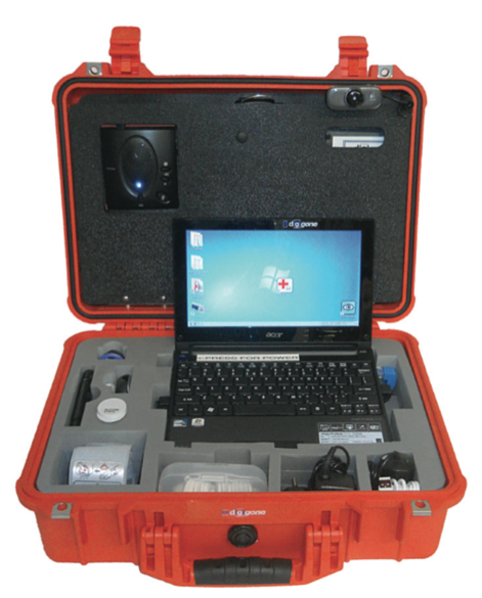 The Digi+Doc kit comes with everything you need including a dedicated camera and tablet programmed to automatically connect to GWU Medical 24/7.