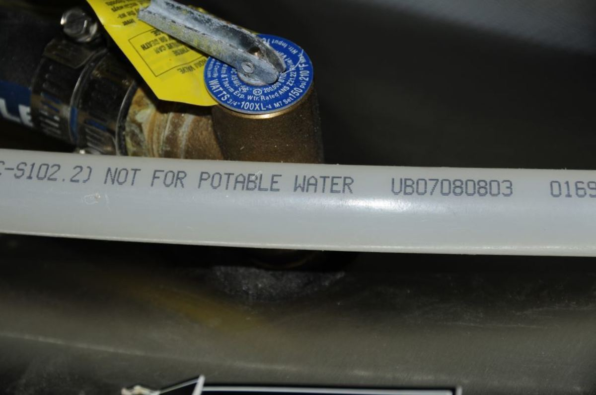 All hose and tube used for potable water systems should carry a clear rating for this application. Beware, however, some polyethylene tubing that would otherwise be suitable for potable water is specifically marked as unsuitable for this application.