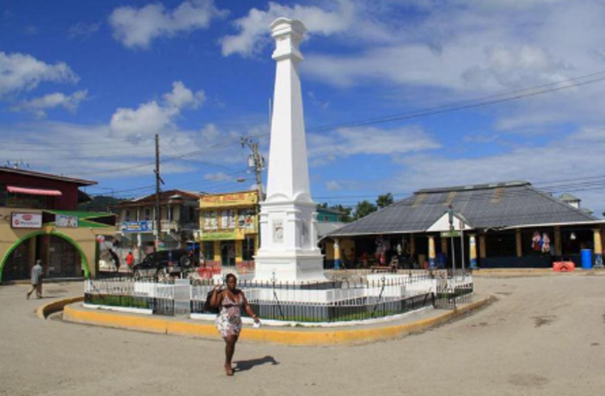 Downtown Port Antonio.