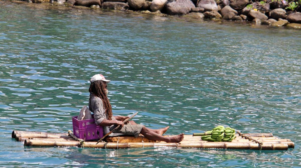 A marina vendor in Port Antonio.