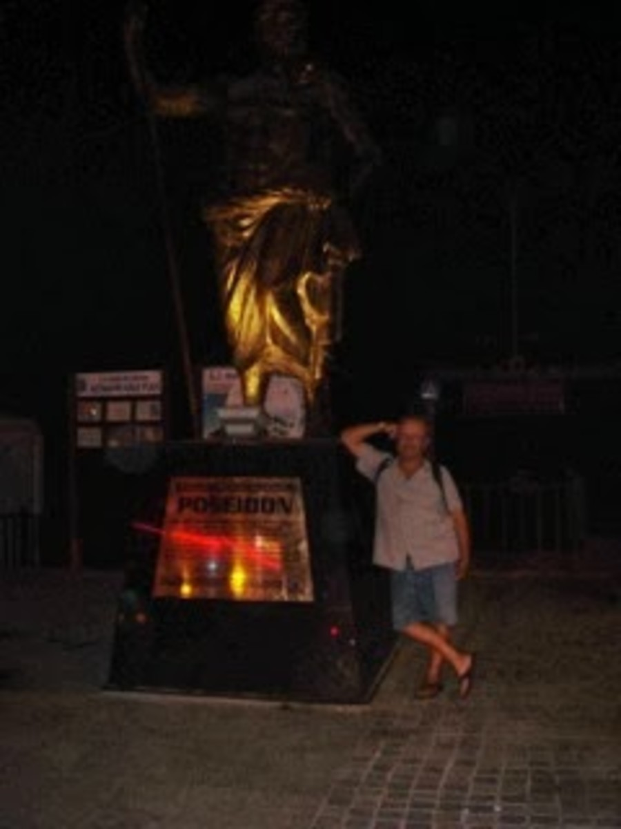 Me and and a statue I came across.