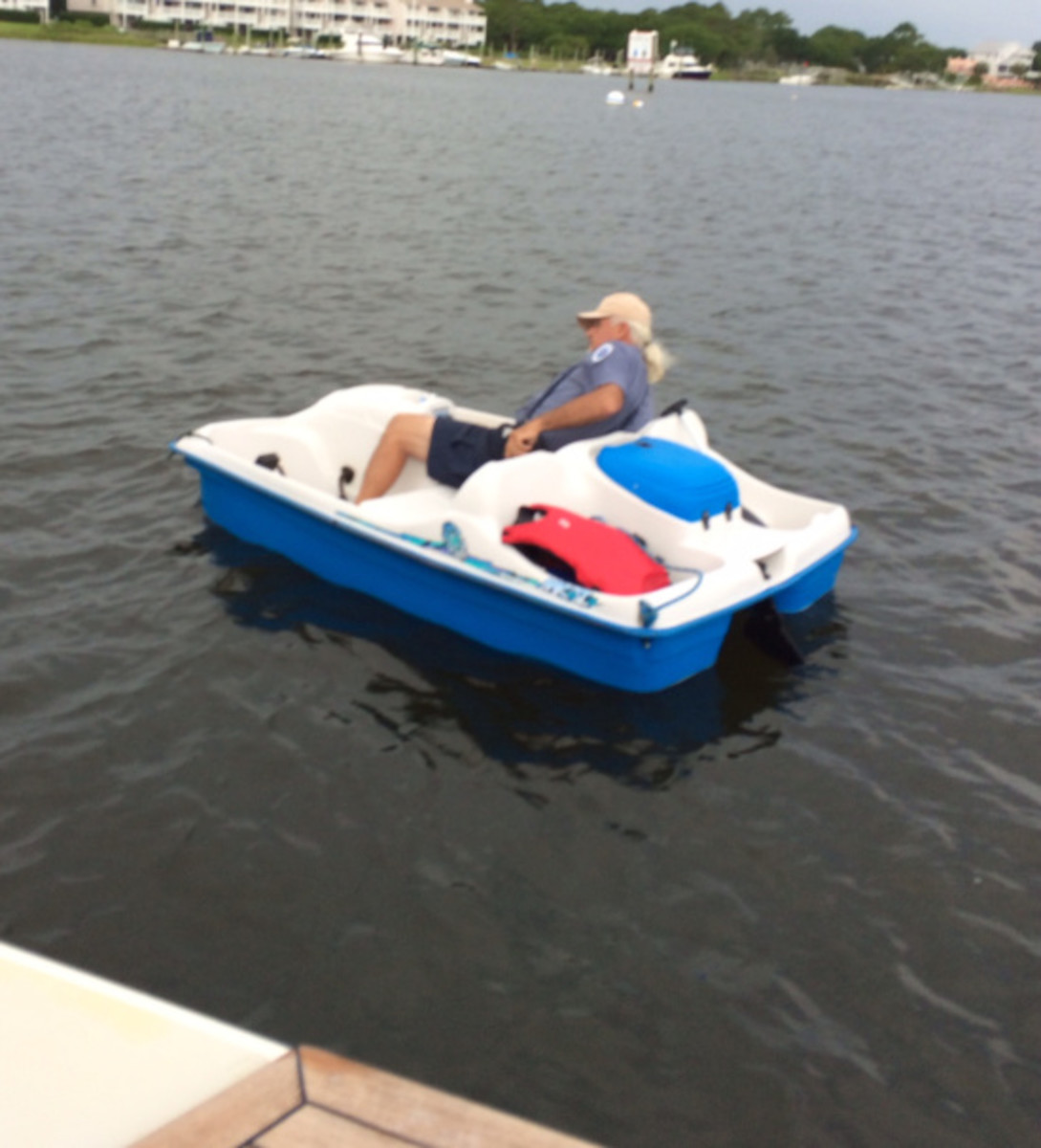 Our esteemed paddle-boating harbormaster.