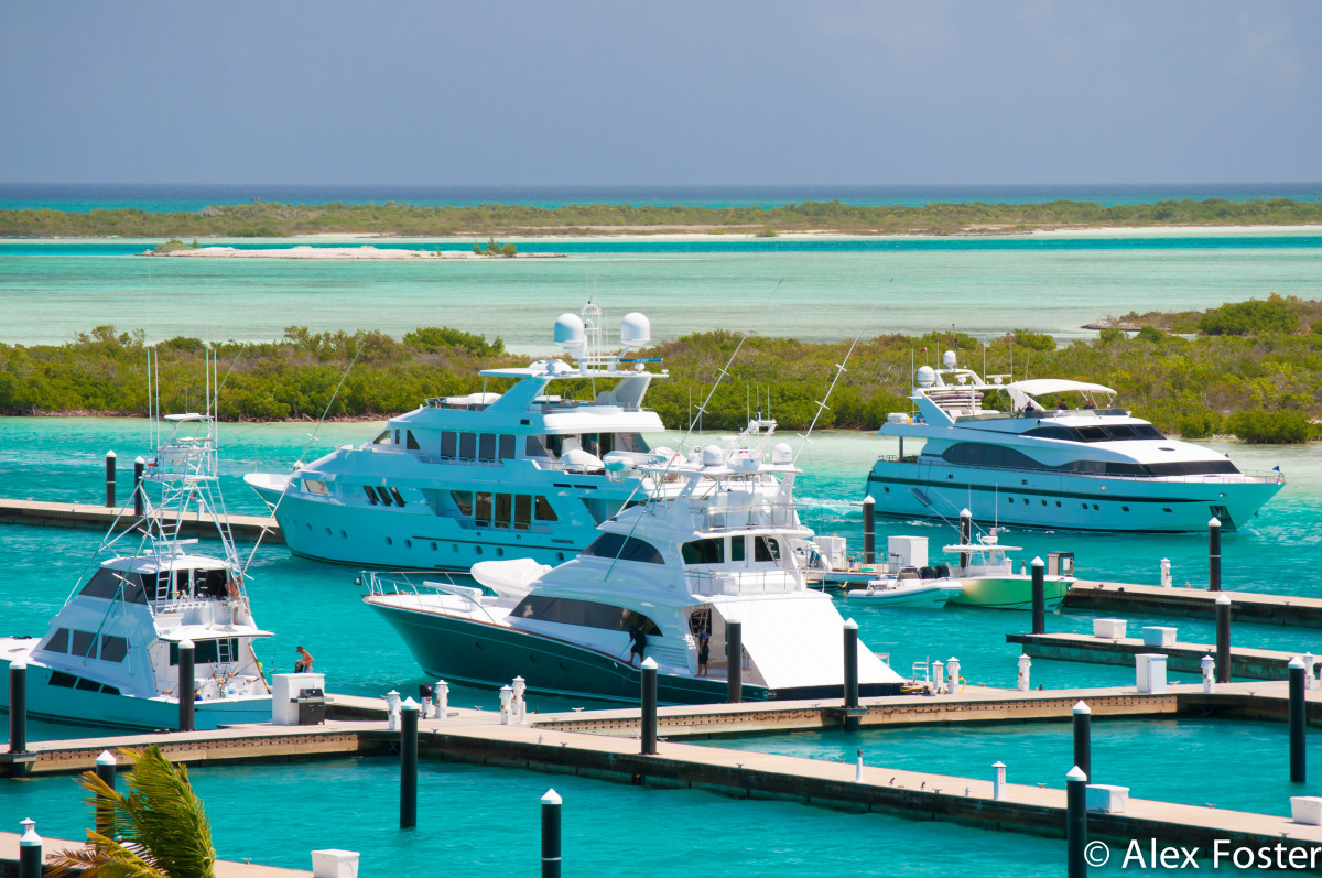 This view leaves little doubt about why the marina is called Blue Haven. It opened in June at Providentiales island in the Turks & Caicos.