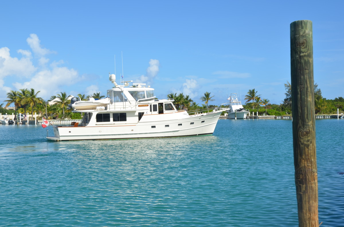 The Fleming 55 sports a classic profile that looks stylish and seaworthy.