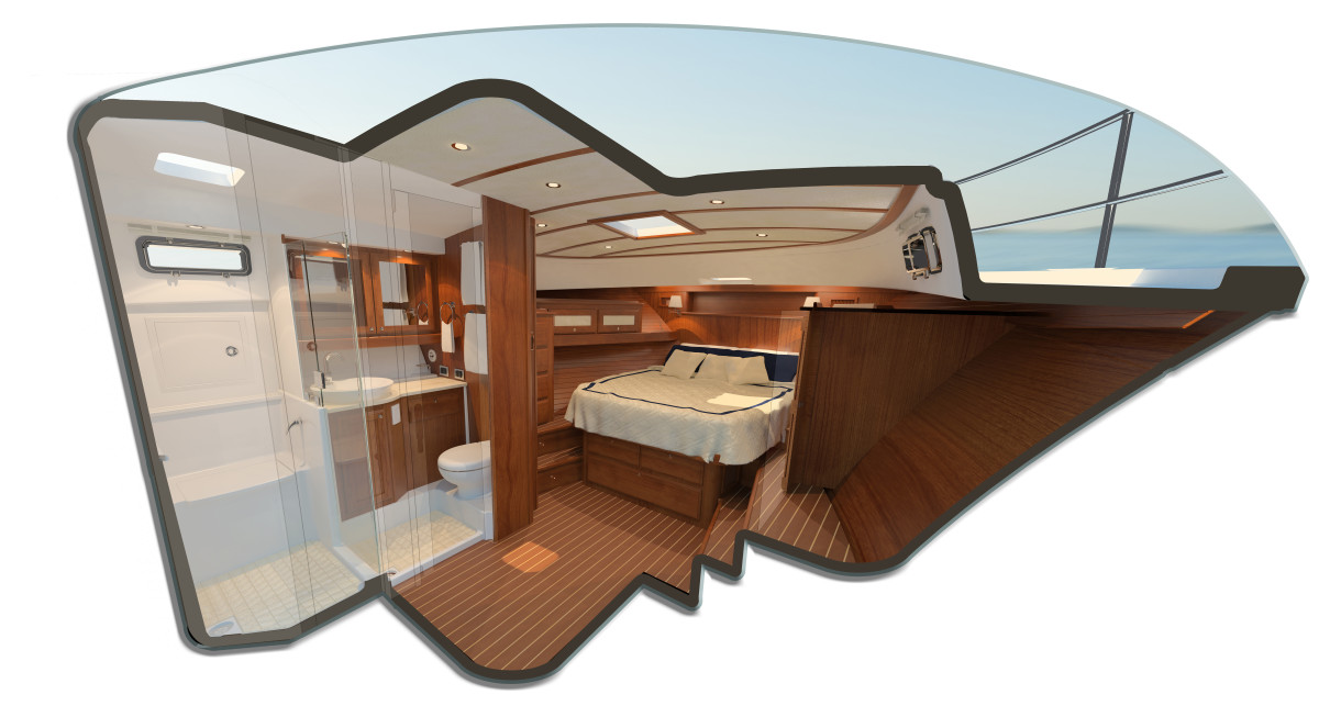 Sabre 45 Salon Express interior