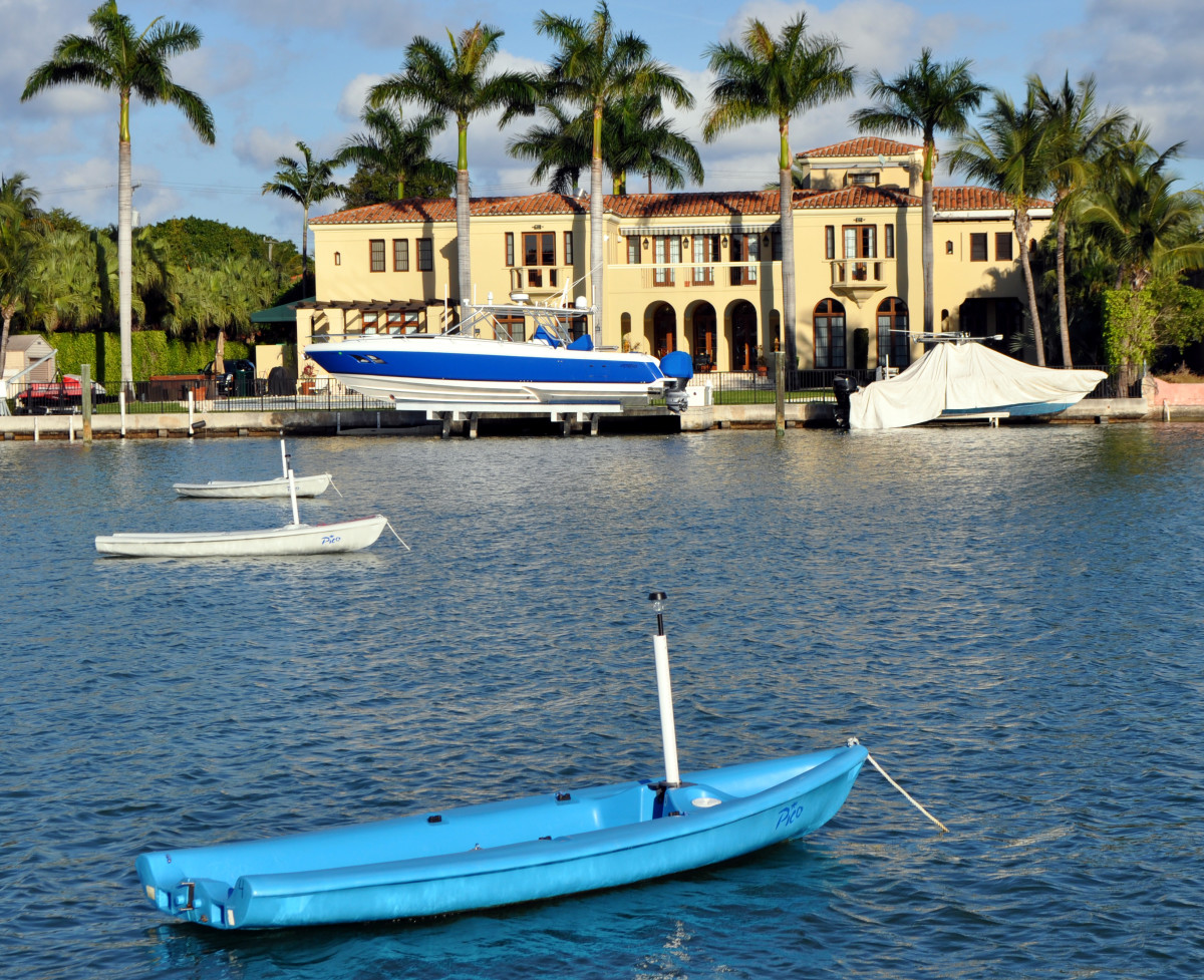 One wealthy Florida waterfront property owner famously solved the problem of cruisers anchoring in front of his Miami Beach home by installing a fleet of sailboats on moorings.