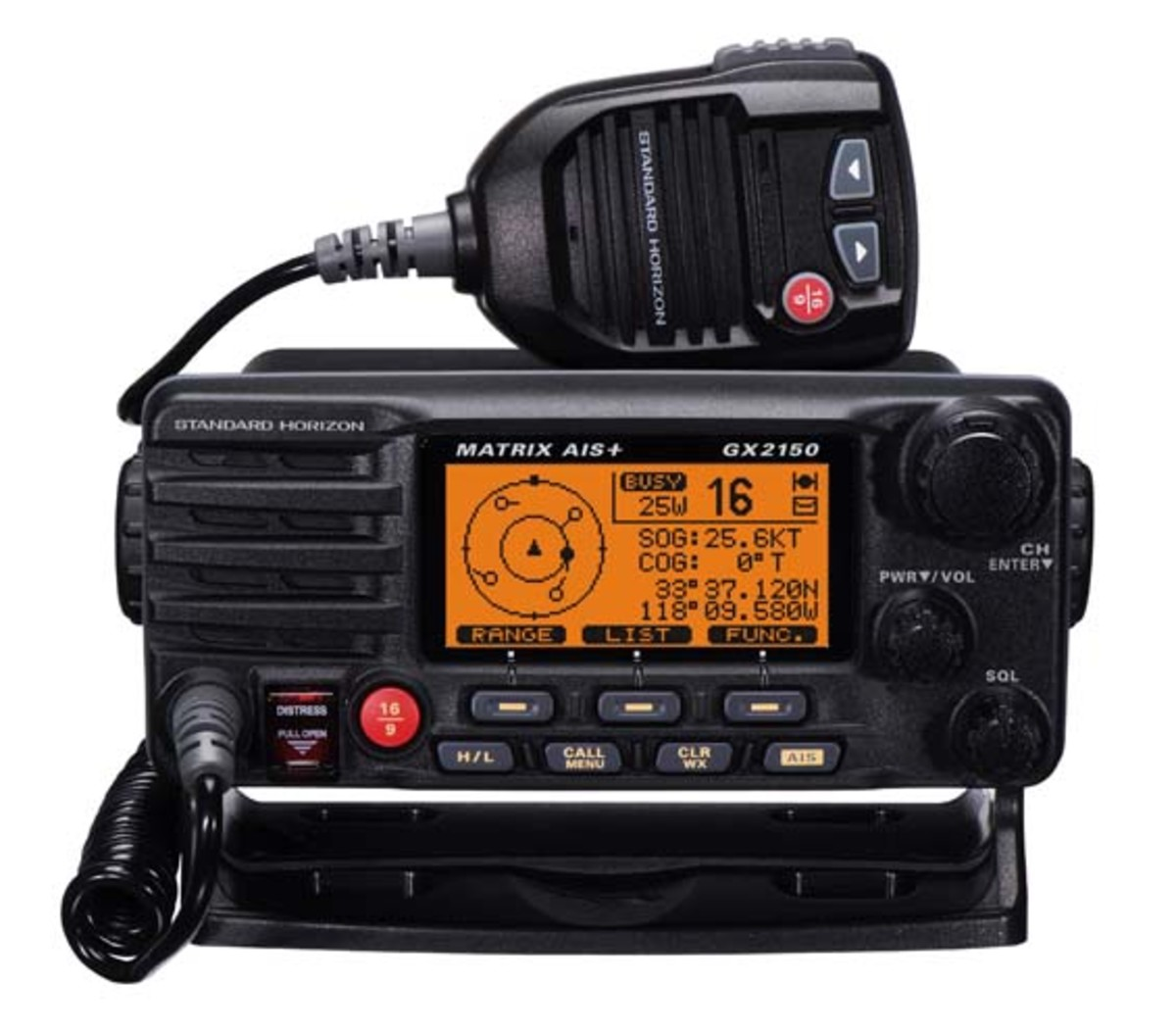 Standard Horizon GX2150 VHF and AIS combination unit.