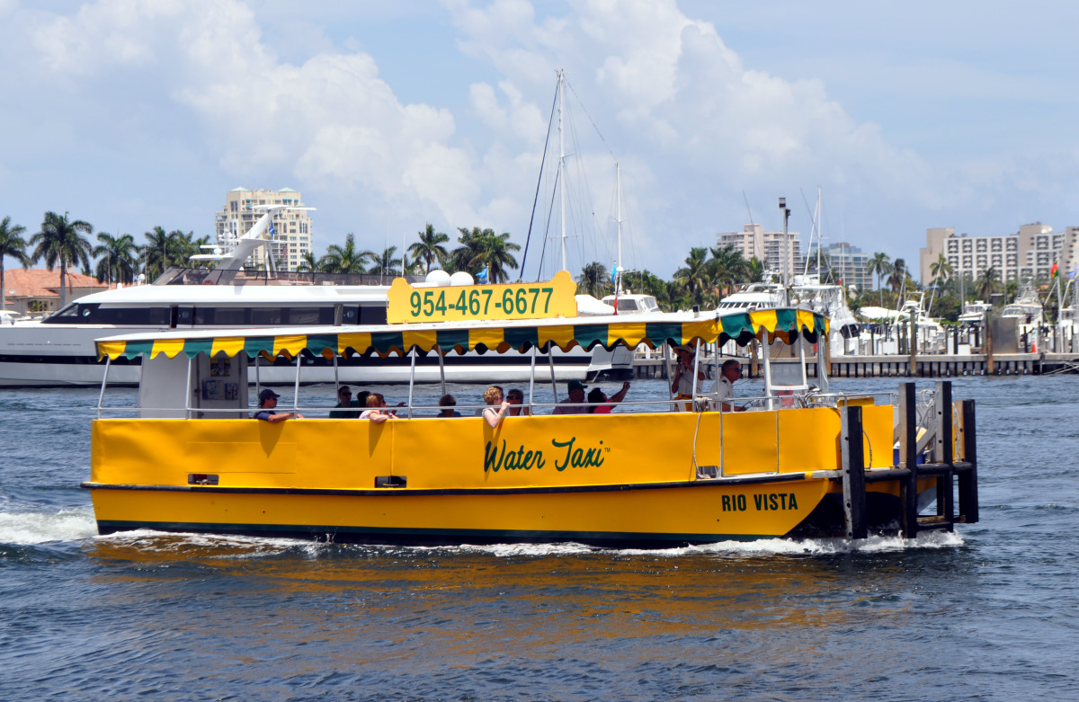 Water taxis are the best way to avoid boat show traffic.
