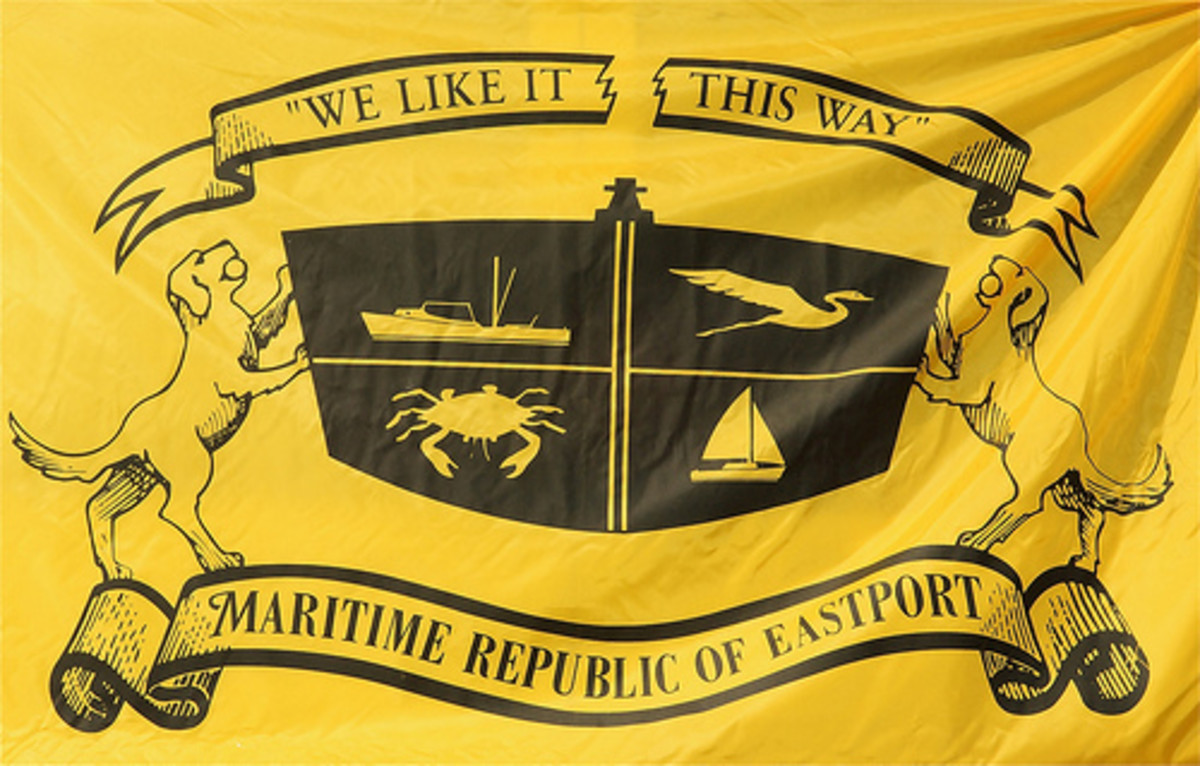 The official flag of the Maritime Republic of Eastport. (Photo courtesy of mre.org)